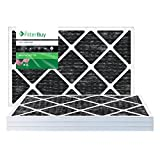 carbon ac filter - FilterBuy Allergen Odor Eliminator 16x20x1 MERV 8 Pleated AC Furnace Air Filter with Activated Carbon - Pack of 4 - 16x20x1