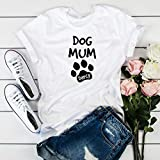 Dog mum with a dog name/Paw prints T-shirt/Christmas gift/Dog lover birthday gift/Gift for dog lover, Unique gift for pet lover