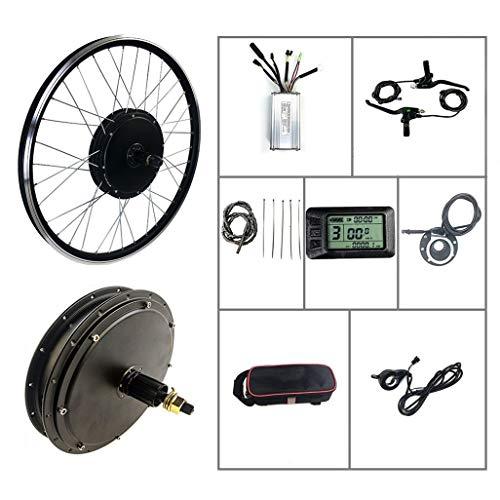 HLeoz Bike Conversion Kit, Electric Bicycle Conversion Kit 36V / 48V 500W 26' for Mountain Bike Road Bike with KT-LCD7 Display,48v,Cassette Motor