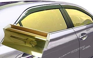 "JNK NETWORKS Reflective Shield Ceramic Window UV Tint Film for Cars Trucks Tractors (Gold, 20"" x 10')"