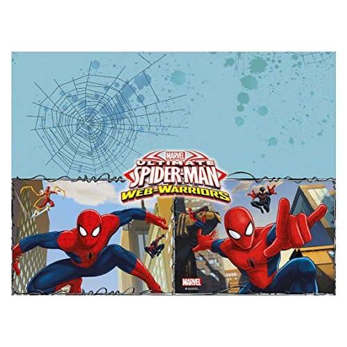 Procos- Folat 85155P Tovaglia Spider-Man Warriors 120 x 180 cm, Rosso, Blu, Azzurro, 120 x 180, 85155