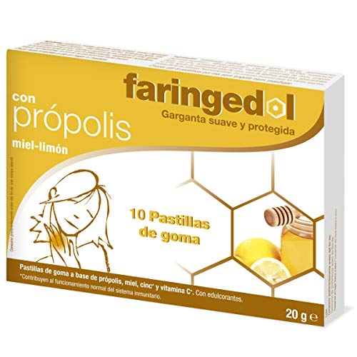 FARINGEDOL pastillas con propolís, miel y limón caja 10 uds