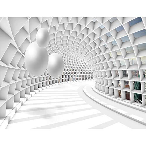 Runa Art - Fototapete XXL 3D Abstrakt - Vlies Wand Tapete Wohnzimmer Schlafzimmer Büro Flur Moderne Wanddeko Weiss 528 x 280 cm 9223015c