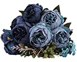 Kimura's Cabin Artificial Peony Silk Flowers Fake Peonies Bouquets for Home...