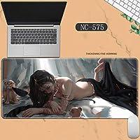 素敵なマウスパッド特大アイスプリンセスゴーストナイフ風チャイムプリンセスアニメーション肥厚ロック男性と女性のキーボードパッドノートブックオフィスコンピュータのデスクマット、Size :400 * 900 * 3ミリメートル-NC-575
