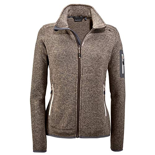CMP Damen Strick Fleece Jacke 3H14746, Desert, 42