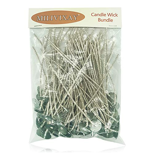 100pcs/lot Candle Wicks for Candle Making - Coated with Natural Soy Wax, Low...