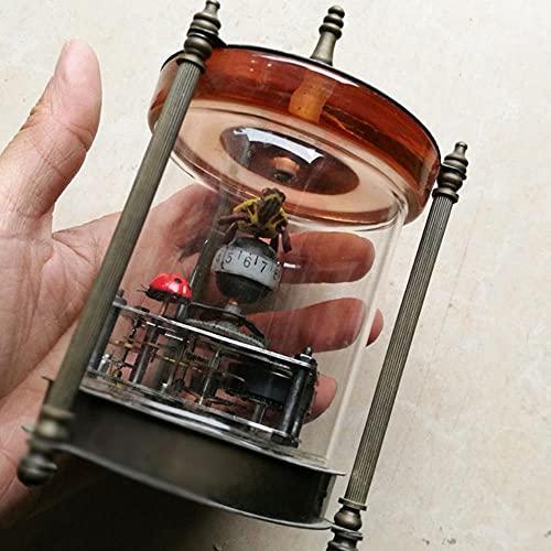 CHOUDOUFU Estatua Escultura Adorno Reloj Mecánico Antiguo Reloj De Mesa De Metal Reloj Digital Reloj De Decoración del Hogar Reloj De Mesa Digital Reloj Mecánico Ornamental
