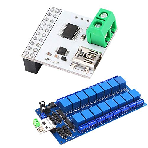 5V 16 Kanal Relais Modul, DC 5V USB Relaismodul Computer Switch Control mit Integrierter Mini USB Schnittstelle/hochwertigen Leiterplatten