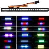 RC LED Light bar Roof LED Lamp Kit 20 Light Modes Control 155mm for 1/10 Traxxas TRX-4 TRX-6 D90 HSP Redcat RC4WD Tamiya Axial SCX10 HPI DIY RC Car