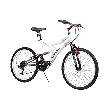 Dynacraft Women's 24  21 Speed Rip Curl Bike, 17 /One Size, White/Black/Pink