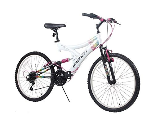 Dynacraft Women's 24' 21 Speed Rip Curl Bike, 17'/One Size, White/Black/Pink
