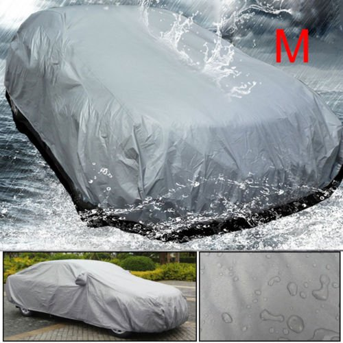 Shoze Car Cover Full Waterproof UV Protection Breathable Universal Outdoor In All Weather Medium Size M