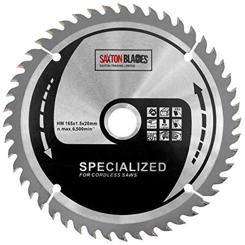 Preisvergleich Produktbild Saxton Blades TCT16548T Saxton Kreissägeblatt mit dünner Schnittfuge,  165 mm x 48 Zähne