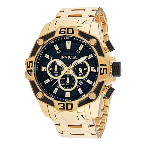 Invicta Men's Pro Diver 33847 Gold Stainless-Steel Quartz Diving Watch