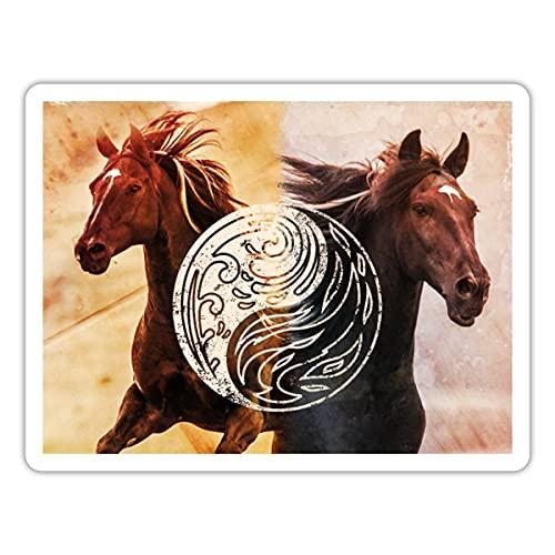 Spreadshirt Ostwind Der Große Orkan Ostwind Brandzeichen Sticker, One Size, Mattweiß