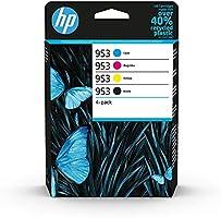 HP 953 6ZC69AE, Negro, Cian, Magenta y Amarillo, Cartuchos de Tinta Originales, Pack de 4, para impresoras HP OfficeJet...