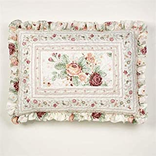 Touch of Class English Rose Quilted Sham Ivory Standard