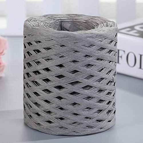 QORI 200m Hand-knitted Lafite Raffia Straw Environmentally Friendly Paper Yarn Baking Packaging Belt Rope Crocheting Summer Hat Bags