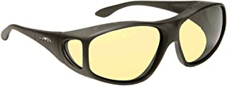 caed9e5dcd Haven Designer Fitover Sunglasses Tapered Square Night Driver in Black    Night Driver Yellow Lens (