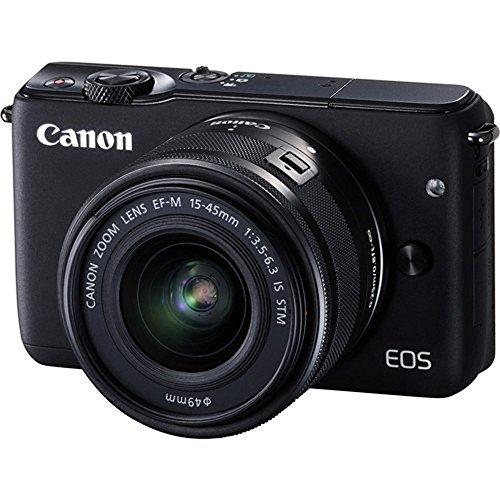 Canon EOS M10 Mirrorless Digital Camera with 15-45mm Lens (Black) - International Version (No Warranty)