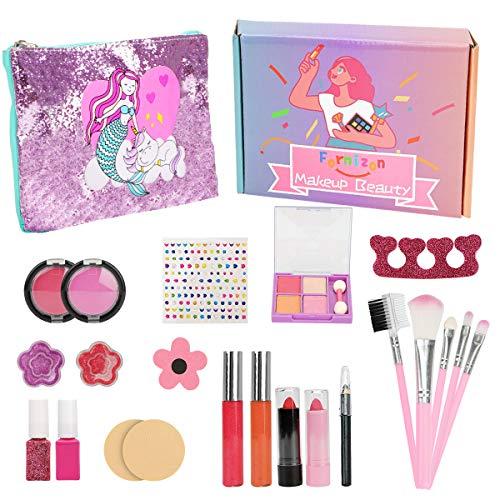 FORMIZON 21 Piezas Kit de Maquillaje Niñas, Juego de Maquillaje para Niños...