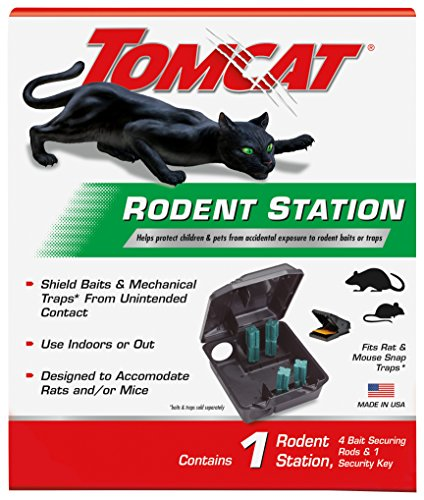 Tomcat Rodent Station, Includes 1 Rodent Station with 4 Bait Securing Rods and 1 Security Key - Fits...