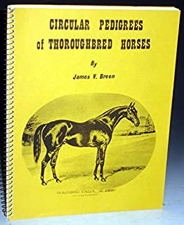 Circular pedigrees of thoroughbred horses