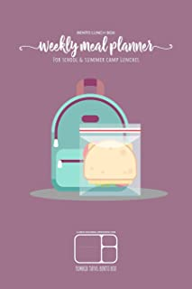 BENTO LUNCH BOX - Weekly meal planner for school and summer camp lunches   Lunch journal designed for YUMBOX TAPAS BENTO BOX: DOWNLOADABLE BONUS ... meal planner for BENTO BOX COLLECTION)