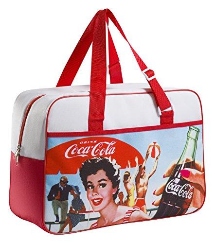 Meliconi Coca Cola Borsa Termica Lunch Bag 24 Lt, 600d PU, Fantasia Vintage, 45.0x18.0x31.0 cm
