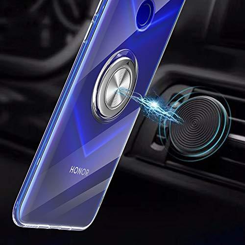 Kompatibel mit Honor View 20 Hülle 360 Grad-drehender Ring Kickstand Handyhülle KFZ-Halterung Schutzhülle Transparente Schale Magnetischem Weicher Hüllen Handytasche (1, Honor View 20) - 2