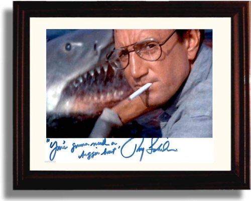 Framed Roy Scheider Autograph Replica Print - Jaws