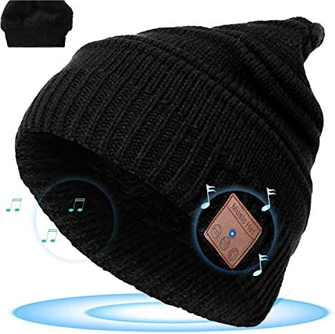 Bluetooth Beanie Hat Wireless Music Hat with Headphone Headset V5 0 Sports Earphone Winter Warm product image