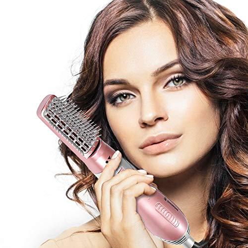 3 in 1 Rotierenden Warmluftbürste, Warmluftbürste, Multifunktionaler Warmluftbürste Hair Styler Volumenbürste Heißluftkamm Haarglätter Negativer Ionenfön Lockenbürste Lockenwickler für alle Haartypen