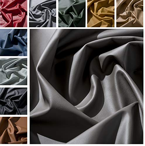 IPEA Premium Quality Genuine Leather Cutouts in and Sizes - Smooth Half Coat Surface of approx. 2.2 sqm, Graphite