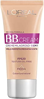 BB Cream Dermo Expertise Base Média 30ml, L'Oréal Paris, Médio, 30Ml