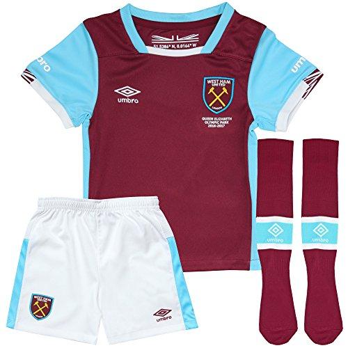 West Ham United FC Fußball-Set für Kinder, Trikot, Shorts und Socken, L BOYS (30-31