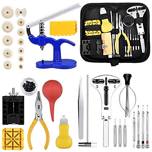 Queta Uhrenwerkzeug Set / 18-teiliges Uhren Reparatur Set/professionelles Uhrmacherwerkzeug/Reparaturwerkzeug für die meisten Uhren/mit schwarzer Nylontasche