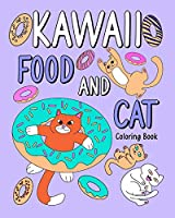 Kawaii Food and Cat Coloring Book