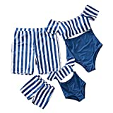 Yaffi Family Matching Swimwear One Piece Bathing Suit Striped Hollow Out Monokini Mommy and Me Beachwear Boys:...