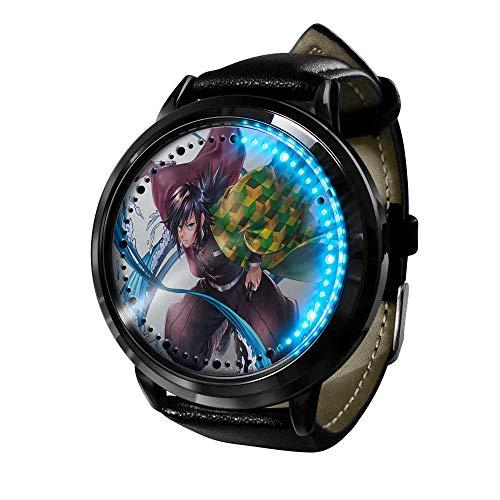 Demon Slayer Reloj Reloj LED Pantalla táctil a Prueba de Agua Luz Digital Reloj Reloj de Pulsera Unisex Cosplay Regalo Nuevos Relojes de Pulsera Regalo para niños-A