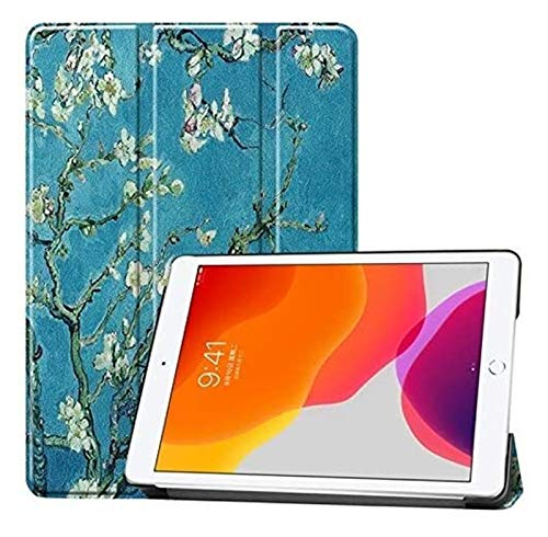 XXY Owl Butterfly Flower Dandelion Eiffel Tower Design Smart Tablet Funda Stand Trifold Stay con Auto Sueño/Wake Compatible con iPad 10.2 (Color : 7)