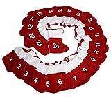 HAAC Adventskalender Advent Girlande mit 24 Socken Filz rot