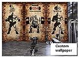 Fototapeten Wand Bild Bilderbenutzerdefinierte Wand Papier Nostalgische Mauer Retro Sport -Fitness...
