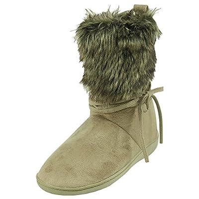 Forfoot Indoor Women Slippers Warm Soft Fleece Bootie Slippers House Shoes