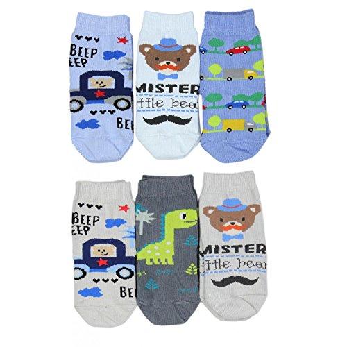 TupTam TupTam Kinder Unisex Socken Bunt Gemustert 6er Pack, Farbe: Junge, Socken Größe: 19-22