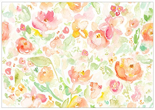 Allenjoy 7x5ft Watercolor Floral Backdrop for Newborn Baby Photography Yellow Flowers Monther's Day Photo Background Portrait Photoshoot Props