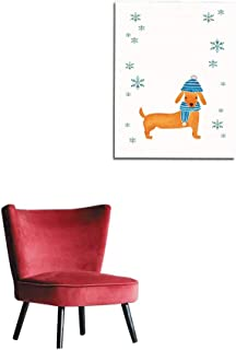 longbuyer Wall Picture Decoration New Year Card Dachshund Mural 32