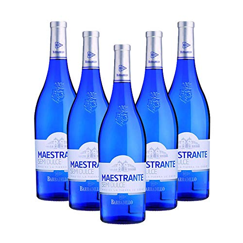Vino blanco Maestrante de 75 cl - D.O. Tierra de Cadiz - Bodegas Barbadillo (Pack de 5 botellas) 🔥