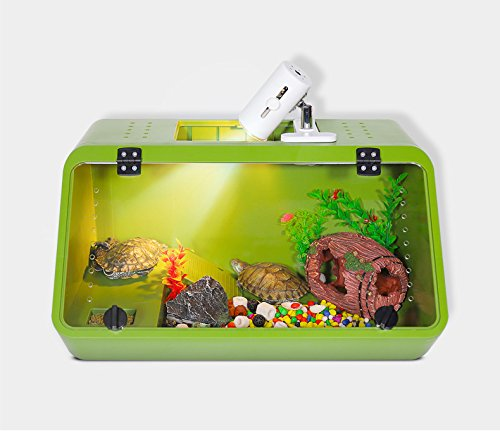 NOMO Reptile Turtle Tank - Caja inclinada (S-04_verde)